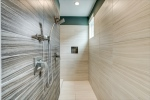 Walk in shower with stunning tilework