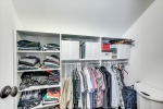 Each bedroom has custom closet with great storage