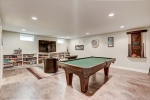 Gorgeous basement game and media room