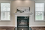 Gas fireplace with granite surround