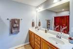 Double vanity in owners bathroom