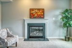 Gas fireplace with accent lights above