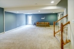 Basement features huge rec room