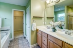 Owners bathoom with double vanity