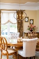 New chandelier in dining room