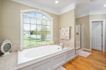 Relax in the generous soaking tub
