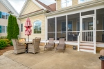 Enjoy evenings on the screened porch or patio