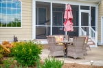 Relax on the rear patio