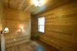 Cedar walls and ceilings upstairs
