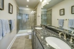Owners bath features spacious walk in shower
