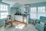 Studio apartment features kitchenette