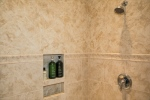 Oversized shower with gorgeous tile-work