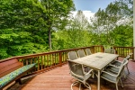 Dine outdoors too on the rear deck!