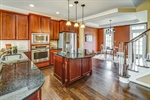 Gourmet kitchen with cherry cabinets and granite