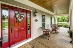 Southern style front porch welcomes you in
