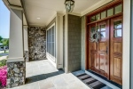 Gorgeous stained door welcomes you home