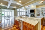 Granite countertops with bar