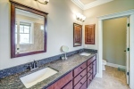 Owners bathroom with leathered granite counters