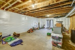 Large basement storage area opens to rear yard