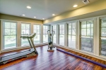 Light filled exercise room