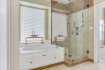 Separate Oversized Shower And Soaker Tub