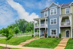 End unit townhome on wide corner lot in Crozet!