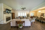 High smooth ceilings with recessed lights