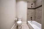 Shared tub and toilet