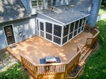 Outdoor living on a huge deck and screened porch!