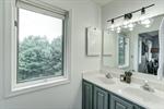 Double vanities in owners bathroom