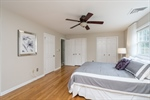 Master Bedroom with 3 closets