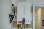 Tankless water heater in garage