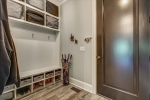 Mudroom features built in cubbies and bench