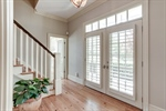 Heart of pine floors shine throughout the home