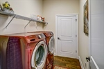Laundry room connects to owners bathroom
