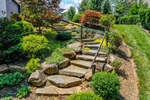 Bluestone boulders accent the beautiful landscape