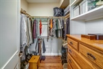 Two walk-in closets in owners suite