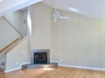 Gas log fireplace Vaulted ceilings