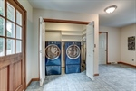 Laundry room in mudroom breezeway.