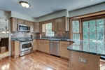 Stainless steel appliances throughout kitchen