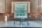 Mosaic glass tile backsplash is gorgeous!