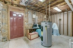 Unfinished basement storage room-rough plumbed