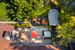 Overhead view of fantastic backyard space