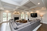 Family Room with French Doors and Gas Fireplace