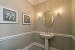 Powder room off Entrance Foyer