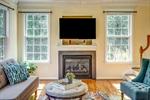 Gas fireplace TV conveys!