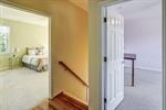 Hardwood floors in the second floor hallway