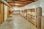 Unfinished basement storage