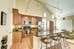 Kitchen features large island with seating!