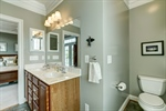 Owners bathroom with double vanities
